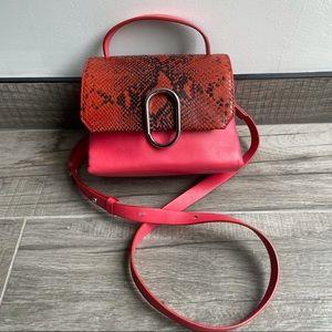 Philip Lim Alix crossbody snakeskin leather bag